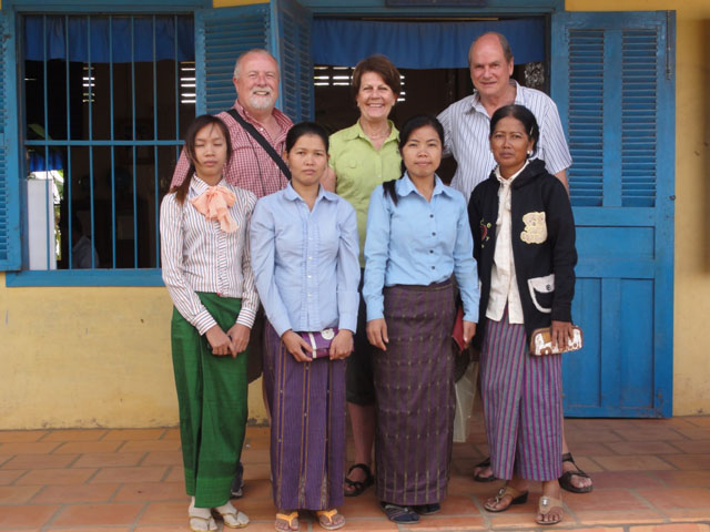 1 With Denzil And A Few Teachers Cambodia